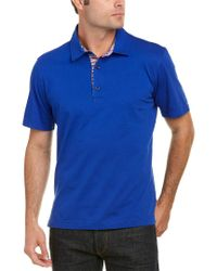 Robert Graham Blue Classic Fit Stoked Polo for men