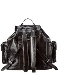Saint Laurent Black Noe Leather Backpack
