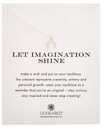 Dogeared - Metallic Let Imagination Shine Silver Necklace - Lyst