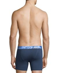 Original Penguin Blue Printed Logo Boxer Brief for men