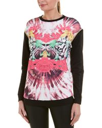 Versace Jeans Pink Removable Sleeve Scuba Top