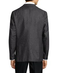 Lubiam Gray Solid Wool Sportcoat for men
