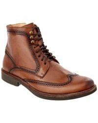 Donald J Pliner Brown Rayman Wingtip Boot for men