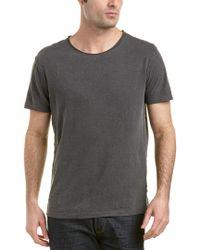 AG Jeans Gray Theo Linen-blend Crew Neck for men