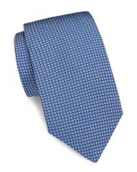 Saks Fifth Avenue Blue Printed Silk Tie for men