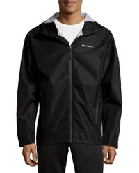 Champion - Black Waterproof Hooded Jacket for Men - Lyst