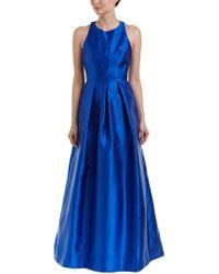Carmen Marc Valvo Blue Gown