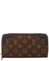 Louis Vuitton Brown Black Monogram Multicolore Canvas Retiro Zippy Wallet