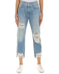 7 For All Mankind - Blue 7 For All Mankind Josefina Vintage Wythe High-rise Straight Crop - Lyst