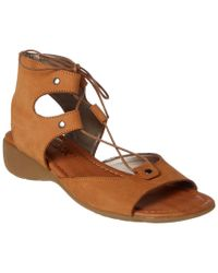 The Flexx - Brown The Band On Run Leather Sandal - Lyst
