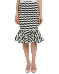 Nicole Miller Black Linen-blend Midi Skirt