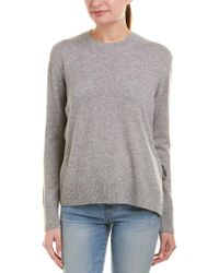 Vince Gray Tie-side Cashmere Sweater