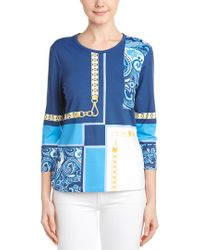 J.McLaughlin Blue Catalina Cloth Top