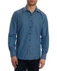 Robert Graham Gray Hill Punch Classic Fit Woven Shirt for men