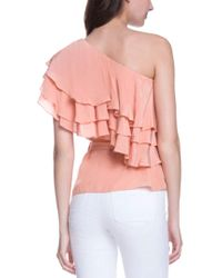 Endless Rose Pink One-shoulder Ruffle Top