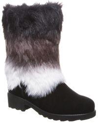 BEARPAW Black Regina Leather Boot