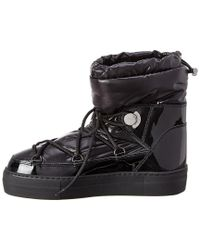 Moncler Black Ynaff Patent Boot