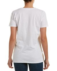 Caleigh & Clover White Violet V-neck T-shirt
