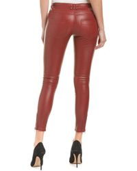 Anine Bing Red Moto Leather Pant