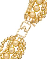 Kenneth Jay Lane Metallic 22k Plated Necklace