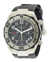 Hamilton Metallic Men's Rubber Watch for men
