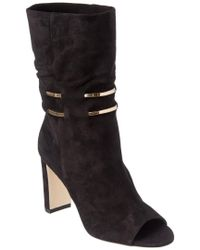 Jimmy Choo - Black Mysen Suede Bootie With Metal Chain Detail - Lyst