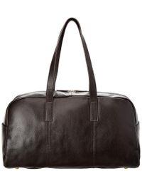 Christian Lacroix Black Signature Leather Duffle Bag