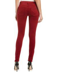 Hudson Jeans Red Krista Crimson Super Skinny Leg