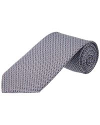 Ferragamo Blue Silk Tie for men