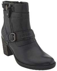 Earth Black Montana Mid Calf Leather Bootie