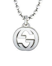 Gucci Metallic Interlocking G Silver Necklace