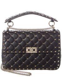 Valentino Multicolor Rockstud Spike Medium Leather Shoulder Bag