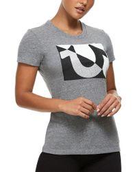 True Religion Gray Kaleidoscope U Crew T-shirt