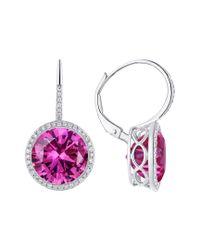 Diana M Purple 14k 11.10 Ct. Tw. Diamond & Topaz Earrings
