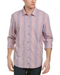 Ike Behar - Pink Ike By Woven Shirt for Men - Lyst