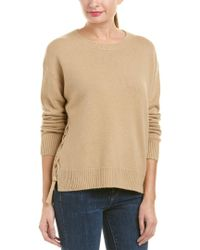 Vince - Natural Cashmere Pullover - Lyst