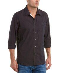 Jachs Black Action Pleat Classic Fit Woven Shirt for men