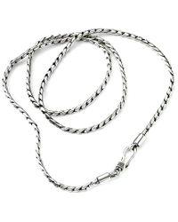 Samuel B. - Metallic Silver Chain Necklace - Lyst