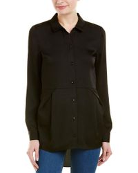 BCBGeneration Black Pleated Blouse