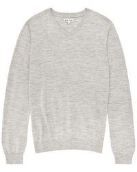 Reiss - Gray Wool Knitwear for Men - Lyst