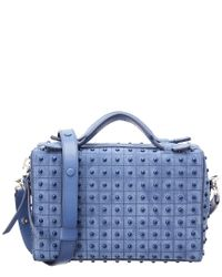 22c6e9cba327 Lyst - Tod S Gommino Mini Studded Leather Satchel in Blue