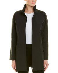 Cinzia Rocca Black Stand-up Collar Coat