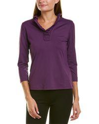 J.McLaughlin Purple Catalina Cloth T-shirt