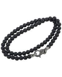 Stephen Webster Metallic Silver & Rhodium Gemstone Wrap Bracelet