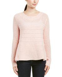 White + Warren Pink Cashmere Sweater