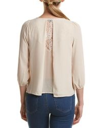 19 Cooper - Natural Layered Lace Back Top - Lyst