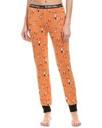 MINKPINK Orange Fox Print Sleep Pant