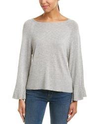 Splendid - Gray Bell Sleeves Sweater - Lyst
