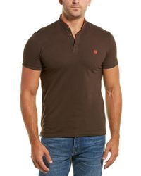 The Kooples Brown Sport New Shiny Pique Polo for men