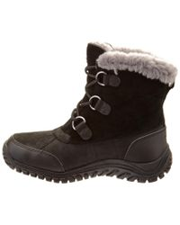 Ugg Black Women's Ostrander Waterproof Leather & Suede Boot